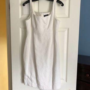 Ivory/White Cotton Sheath Dress Size 12